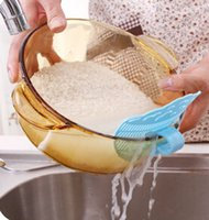 Wholesale Hot sale Smile can clip type cleaning rice washing sieve drainer device strainer cooking tools debris filter kitchen gadget utility