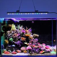 aquarium for sell - Hot selling Waterproof w LED Aquarium Bar Grow Light White Blue UV for reef coral fish tank lighting IP65 aquarium bar lamp