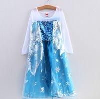 Cheap retail Summer dress 2014 girl party dress anna princess costume baby girls elsa dress tutu pink new frozen dress Christmas