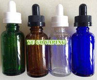 bottle top - 30ml Glass Round Dropper E Liquid Juice Bottle Child Proof Resistant Caps Slender Slim Dropper Black and White Tops With Assembling Service