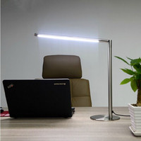 Wholesale New High quality stainless steel LED desk lamp Learning the desk lamp Touch the dimming LED desk lamp Creative bedroom reading lamp