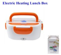 ECO Friendly GREEN,BLUE,PINK,ORANGE 220V ( EU Type) / 110V ( US Type) Retail Electric Heating Insulation Boxes Multifunctional Electronic Heated Lunch Box EU US Plug 4 Color with Retail Package