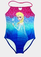 bath suits one piece - Girls Swimwear Y Y Elsa Anna Princess One Piece Swimsuit Cartoon Swimming Bath Costume Bathing Suits Beach Wear