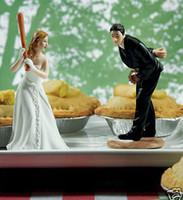 baseball figurine - Cheap wedding cake toppers bride bridegroom Figurine cake topper decorations figurines Valentine s Day gift baseball couple