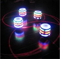 Wholesale Classic Retro Music LED Gyro Kids Toy Gifts Flash Light Peg Top Spinner Laser