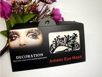 artistic wholesaler - 3 Pairs Eye Shadow Sticker LK005 Eye Makeup Artistic Eye Mask Face Lace Club Party Cosmetics Face Mask Eye Temporary Tattoo