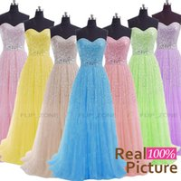 Wholesale Real Image Anna Campbell Evening Party Dresses for Beach Wedding with Sweetheart Backless Sequins Crystal Prom Formal Red Carpet Gowns