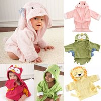 tie dye hoodies - 9 Style cm Pure cotton long sleeve Hooded towel kids baby bath robe Cartoon hoodies Bathrobe