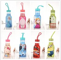 Wholesale 2015 kid children s favorite cartoon Frozen Big hero Minions Cars type choose ml water bottle sports bottle for children child gift
