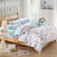 cozy - Dropshipping Grass Bedding White Plain Home Textiles Cozy Printed Duvet Cover Set Twin Queen King