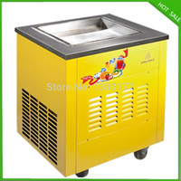 Wholesale single pan ice cream machine fried ice cream machine fried ice cream maker fried ice cream pan machine