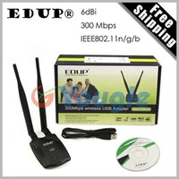 Wholesale EDUP EP MS1532 Wireless Wifi Mbps USB Network Card Adapter with Double dbi Antenna