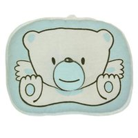 Wholesale Pillow Newborn Bear Cartoon Head Shape Pillow Soft Positioner For Infant Flat Head Pillow Baby Support Cushion Lovely T0030