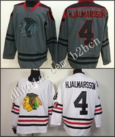 Wholesale Check Shirt Fashion Men - 2015 New Mens Blackhawks #4 Niklas Hjalmarsson Jersey Gray Cross Check Fashion Stitched Chicago Blackhawk Hockey Jerseys Shirt
