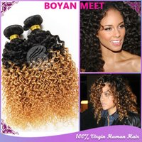 Cheap ombre brazilian hair Best kinky curly virgin hair