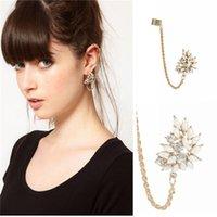 asos earrings - E263 and ASOS are selling manufacturers supply punk Diamond Flower tassel ear clip earrings