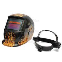 Wholesale Electrical Flame Sexy Beauty Pro Solar Energy Auto Darkening Welding Grinding Mask Welding Helmet MAC_101