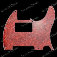 Wholesale Red Pearl Ply Electric Guitar Pickguard Anti Scratch Plate Pick guard for Guitar Double coil Pickup Monting Hole