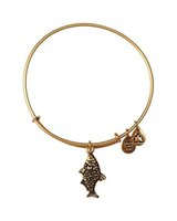 Bangle antique brass wire - Alex and Ani Koi Fish Expandable Wire Positive energy meaning extension pure copper Antique gold and silver Bangle