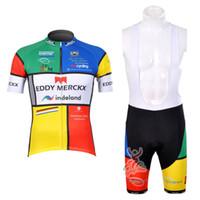 2012 Eddy Merckx manica corta Ciclismo Maglia Bicycle Jersey Ropa Ciclismo e Ciclismo (Bib) Shorts Kit Estate Vestiti di riciclaggio della bici Abbigliamento