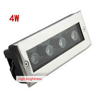 Wholesale stainless steel rectangle W led underground lamps led underground lamp led garden light waterproof AC220V red green blue white yellow