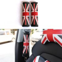 audi leather seat covers - 2 Set Universal Car Styling Union Jack PU Leather Safety Belt Cover Seat Shoulder Pad For BMW Audi Chevrolet Volkswagen