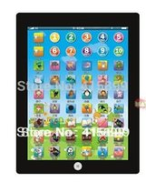 Wholesale Large cm With Color box packaging Children Learning Machine Russian toy Computer for Kids y pad table farm