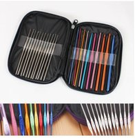 Wholesale 22 Crochet Set Needles Aluminium Knitting Hooks Craft Set Art Crochet Set Needles Aluminium Knitting Hooks