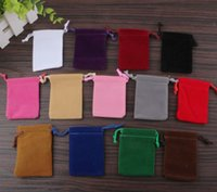 Wholesale Flocking Organza bags Gift wrapping bag cotton pouch bag drawstring bag Jewelry pouch Candy bags Earphones U disk MP3 MP4 power bank Bags