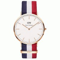 Wholesale 2015 Top Brand Luxury Style Daniel Wellington Watches DW Watch For Men Nylon Strap Military Quartz Wristwatch for women Clock Reloj hombre