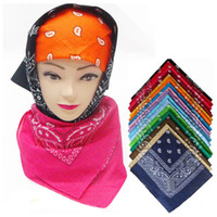 wholesale cotton scarves - Skeleton Bandana Hip hop Cashew Flower Cotton Scarf Outdoor Sweat Absorbent Cotton Bandanas Scarf