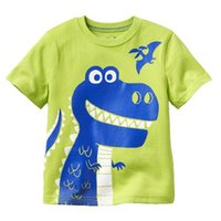 Wholesale 2015 Summer New Boy T shirts Cartoon Dino Short Sleeve T shirts Y