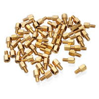 Wholesale Hot Sale M3 Copper Pillars Single end Screw Bolt Hex Stud order lt no track