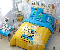 Wholesale Cartoon D Bedding Set Printing Minions Bedclothes Duvet Cover Bed Sheet Children Kids Comforter Bedding Sets Bed Linen
