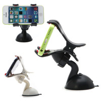 Wholesale US Stock Universal Cellphone Car Mount Holder Windshield Desktop Bracket Holders For Cell Phone Smartphone Samsung iPhone Colors