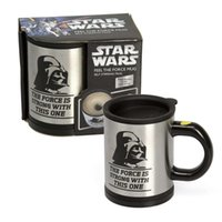 automatic tray - Star Wars Darth Vader Automatic Mixing coffee Tea cup stainless steel coffee Cup Drinking Cup Coffee mug