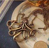 animal details - retail Fashion Details about Vintage Retro Bronze Steampunk Animal Octopus Long Pendant Chain Necklace