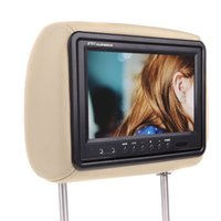 Wholesale Universal quot HD TFT LCD Pillow Car Headrest Monitor DVD Player Built in Screen AV In Car TV