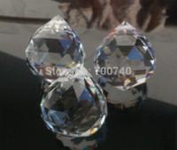 achat en gros de boule de cristal prisme pendentif-FREE AAA Top 30mm expédition plus de Quality Effacer Crystal Ball Chandelier Prism Garland Wedding Pendant Suncatcher