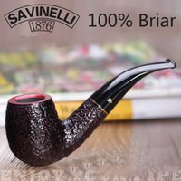 Cheap Wholesale-100% Handmade High Quality Briar Smoking Pipe With 11 In 1 set