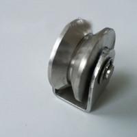 steel sliding gate - 340 stainless steel V groove pulley wheel for sliding steel gate KF539