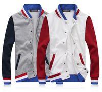 Mandarin Collar letterman jackets - Hot Selling Varsity Letterman College Baseball New Fashion Men s Leisure Baseball Style Coat Active Cotton Jacket