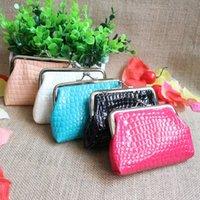 purse clasp - Korean stone grain PU purse cute female students pack a small coin purse clasp ten yuan shop supply