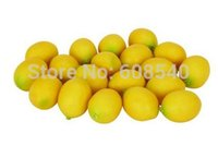 artificial lemon - 5pcs Artificial Lifelike Simulation Yellow Lemon Fake Fruit Home Kitchen Cabinet Decor Model AE01511