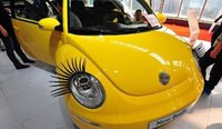 Wholesale 100pairs Charming Eyelash Stickers For Cars High Quality Free DHL Fedex