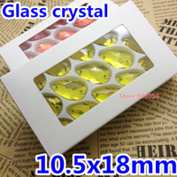 Wholesale box x18mm Pear Teardrop Sew On Rhinestones Citrine Lemon Yellow Color x18mm Sewing Glass Crystal Stone