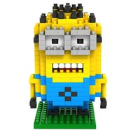 Wholesale kids baby minions PVC Action Figures toys minion bob kevin cm Mini figures Building block toys construction D1740