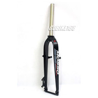 Wholesale MOSSO quot MTB Bike Aluminium Rigid Straight Blade Bicycle Fork V Brake Disc Brake Black New