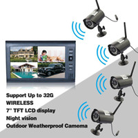 Wholesale DVR Security System Digital Wireless quot LCD Monitor SD Card Recording and Long Range Night Vision CCTV Cameras Recorder S240
