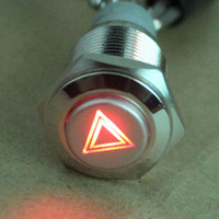 Wholesale New high quality mm CAR Emergency Hazard Warning Flash Light switch Push Button on off Latching switch